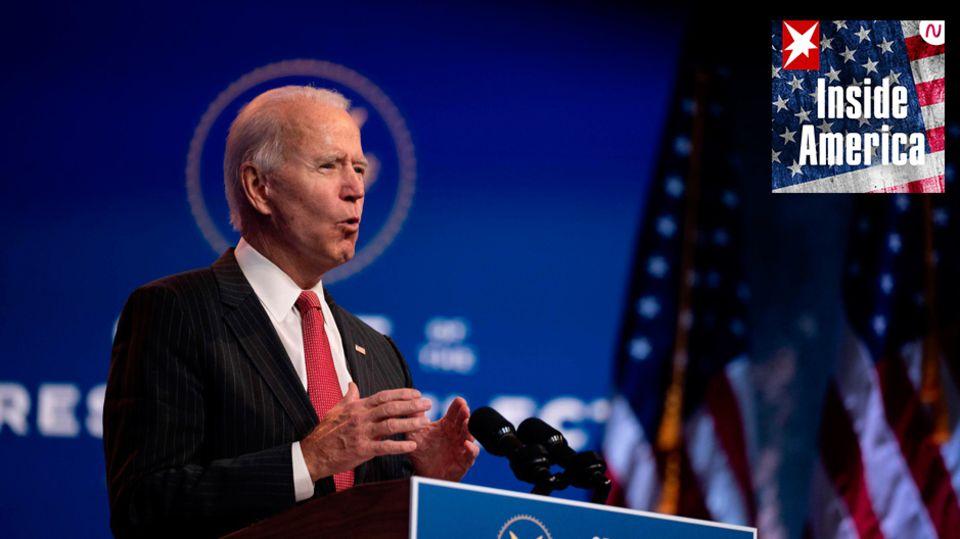 Der designierte US-Präsident Joe Biden bei einer Ansprache inWilmington im Bundesstaat Delaware