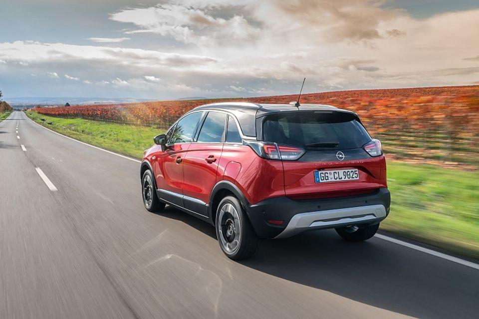 Der Opel Crossland hat auf Wunsch auch eine zweifarbige Lackierung