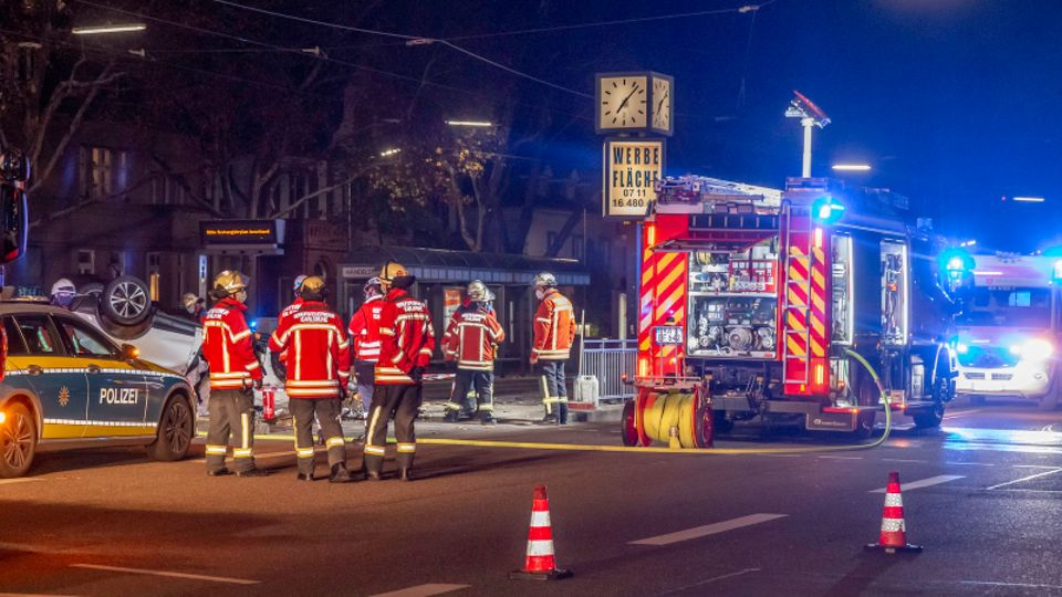 Unfallserie nahe Karlsruhe