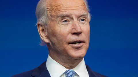 Joe Biden, gewählter Präsident der USA, beider Vorstellung von Schlüsselpositionen seinesKabinetts