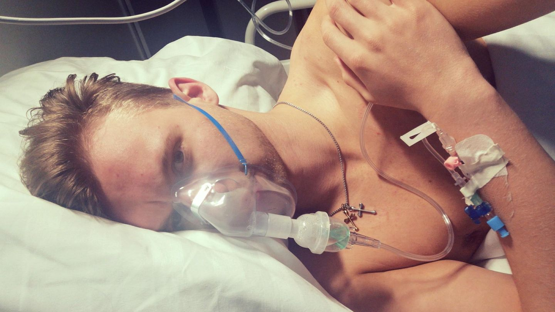 Marc L. einen Tag nach seiner Einlieferung ins Krankenhaus