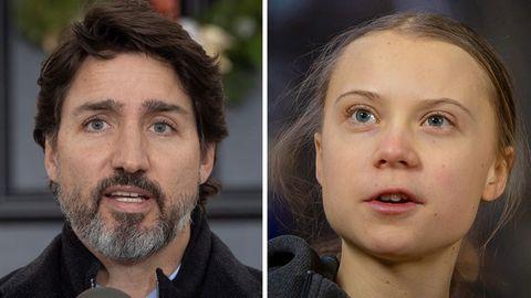 Der kanadische Premierminister Justin Trudeau und Greta Thunberg