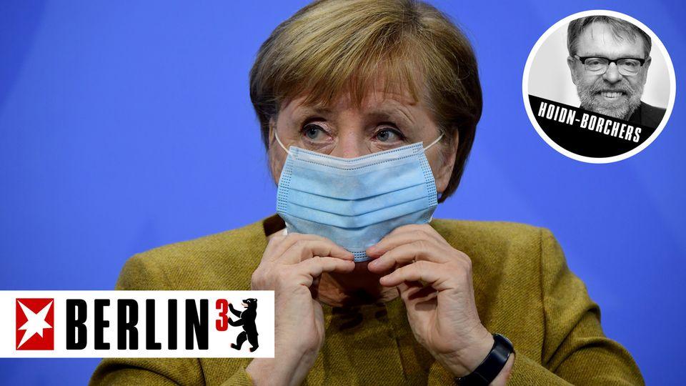 Berlin hoch 3 von Andreas Hoidn-Borchers zum Corona-Gipfel mit Merkel