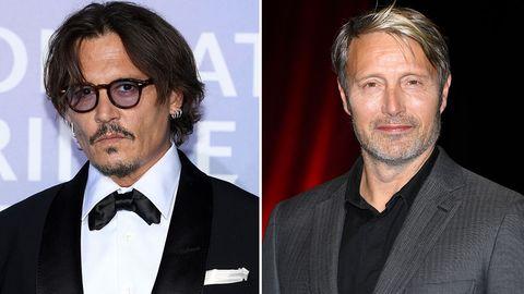 Johnny Depp (l.) und Mads Mikkelsen