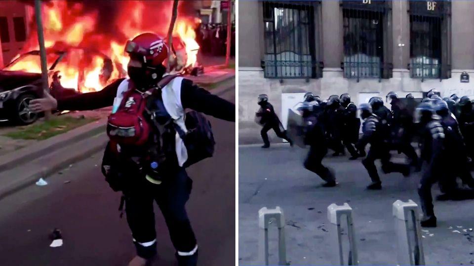 Ausschreitungen in Paris