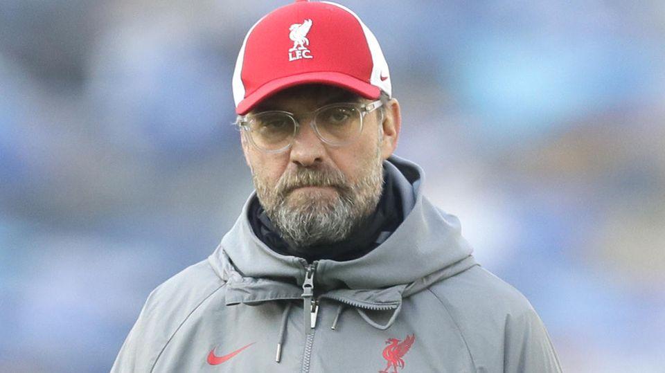 Liverpools Trainer Jürgen Klopp vor dem Spiel gegen Brighton & Hove Albion