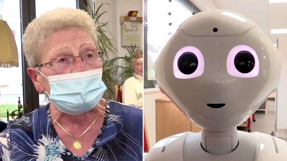 Roboter unterstützen Pfleger in der Pandemie