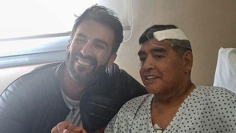 Diego Maradona und Arzt