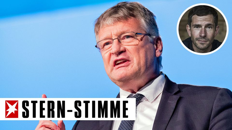 Jörg Meuthen beim Bundesparteitag der AfD in Kalkar