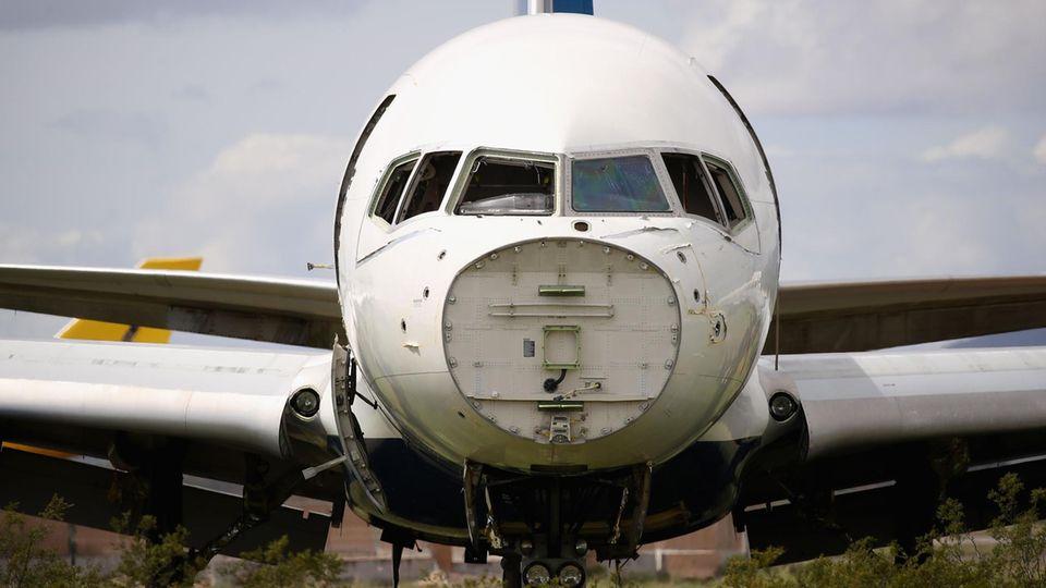 Für immer ausrangiert: ein Airliner imPinal Airpark, Arizona