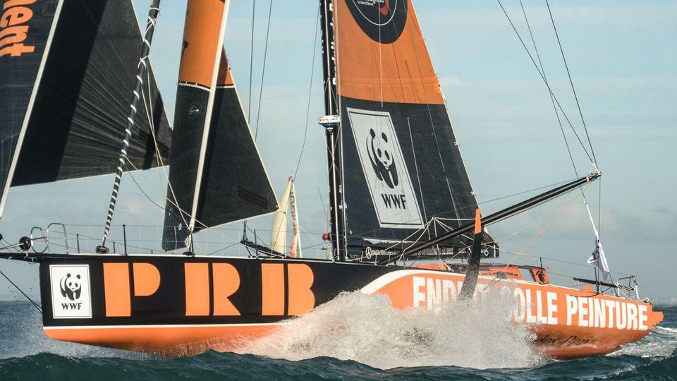 Boot des französischen Skippers Kevin Escoffier