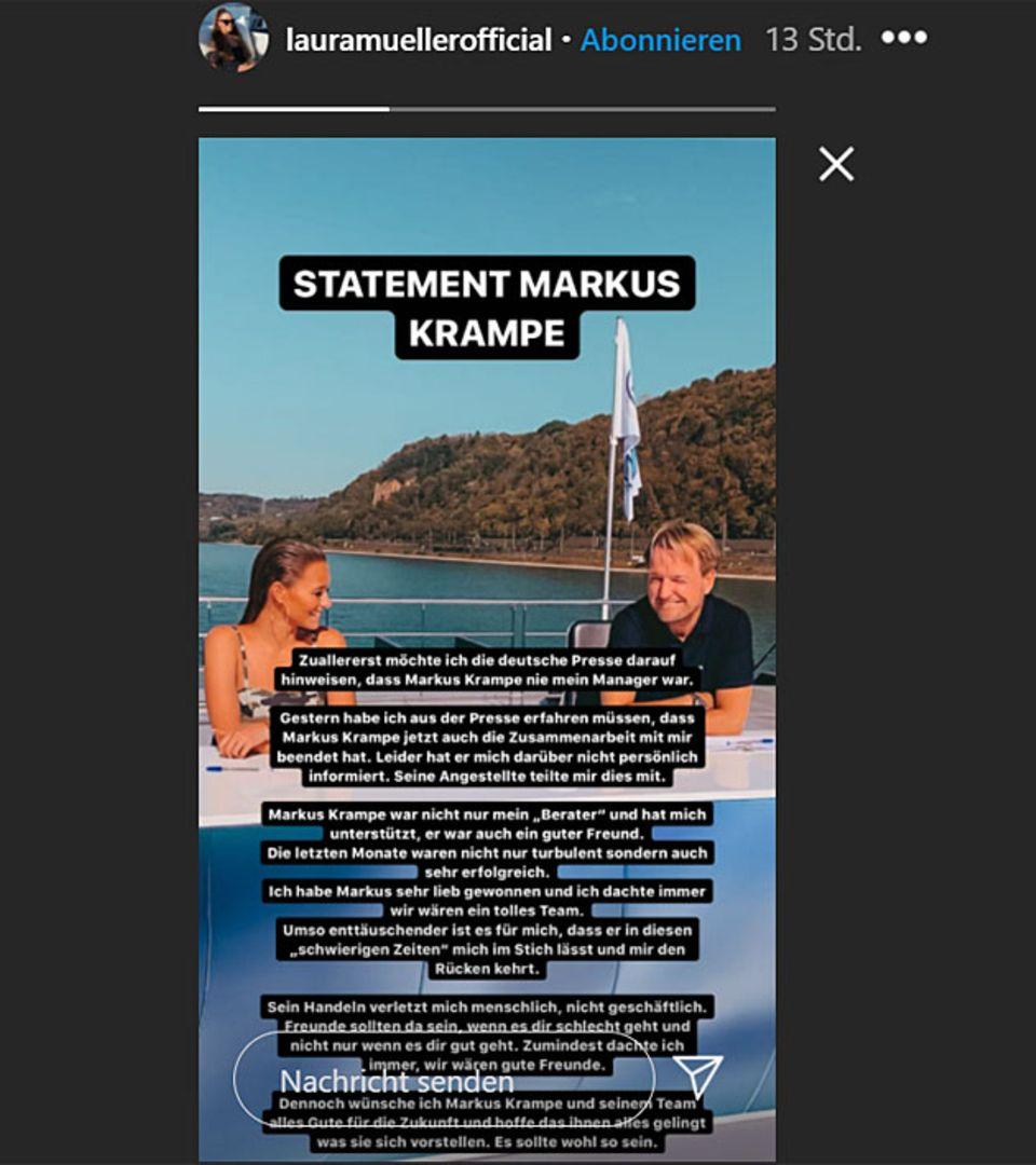 Laura Müller äußert sich zu Markus Krampe