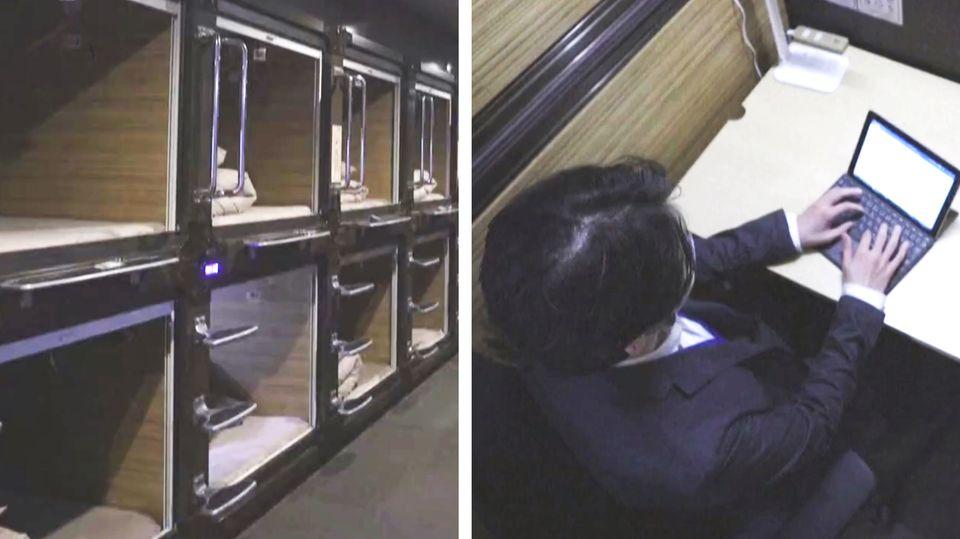 Schlafkapsel wird zu Arbeitskapsel: Wie ein japanisches Hotel in der Krise kreativ wird