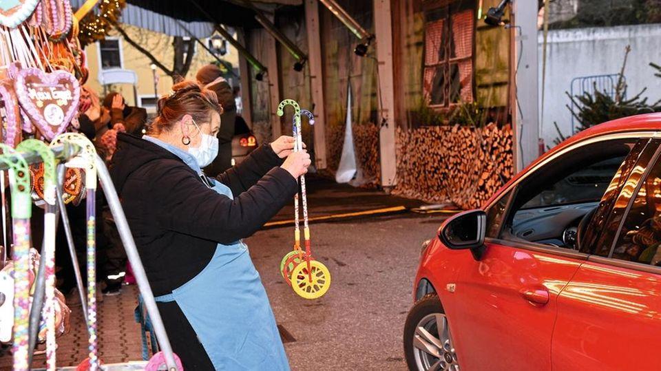 Drive-in-Weihnachtsmarkt in Landshut