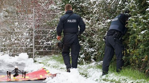 Sogar mit einer Drohne hat die Polizei in Fulda die seit Montag vermisste Zweijährige gesucht