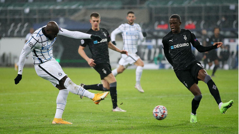 Romelu Lukaku trifft gegen Borussia Mönchengladbach