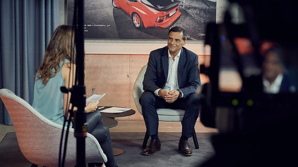 Porsches Forschungs- und Entwicklungsvorstand Michael Steiner