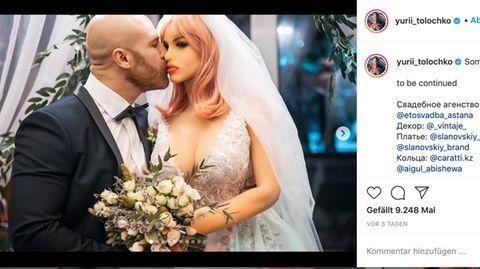"""Kasachstan: Bodybuilder heiratet seine Sexpuppe: """"Sie hat eine zarte Seele"""""""