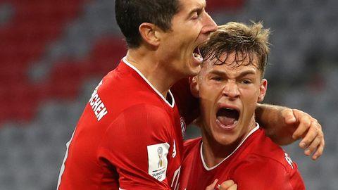 Spielentscheider: Kimmich (r.) jubelt nach dem 3:2-Siegtreffer im Supercup gegen Borussia Dortmund