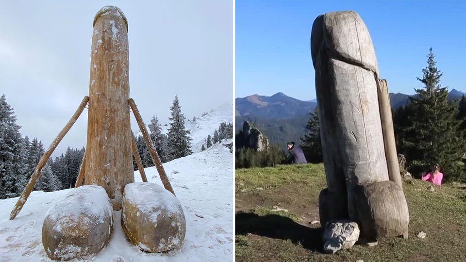 Nach rätselhaftem Verschwinden: Neuer Holzpenis steht – doch wer steckt dahinter?