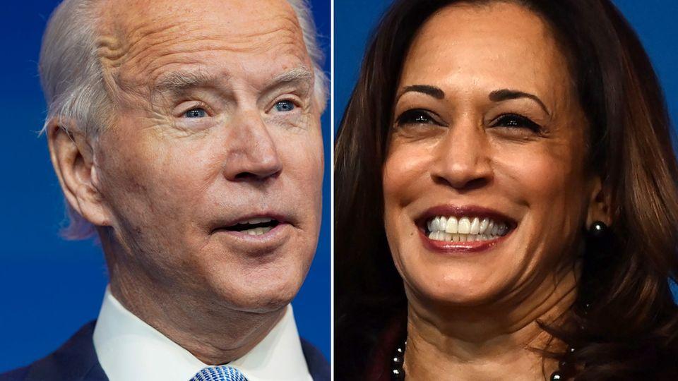 Der designierte US-Präsident Joe Biden und seine Stellvertreterin Kamala Harris