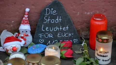 Provisorische Gedenkstätte für die Toten von Trier
