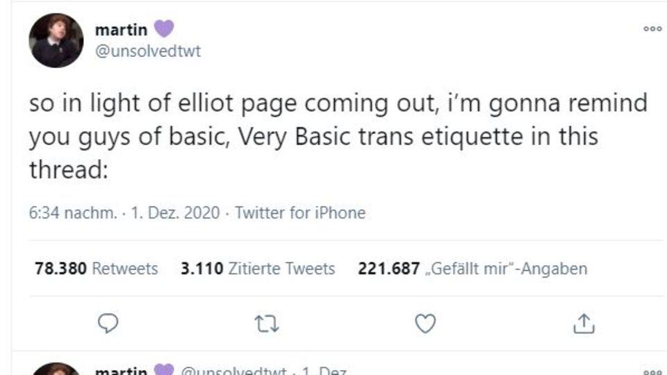 Twitter-Post von Martin