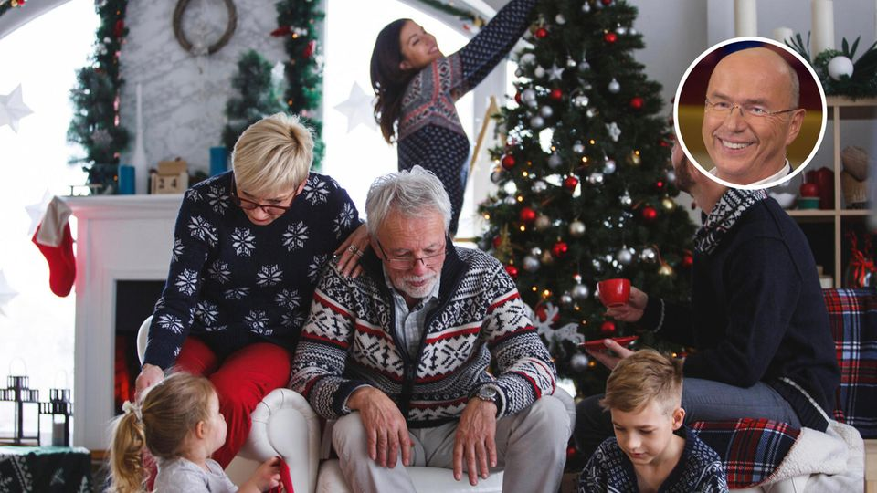 Eine Familie an Weihnachten