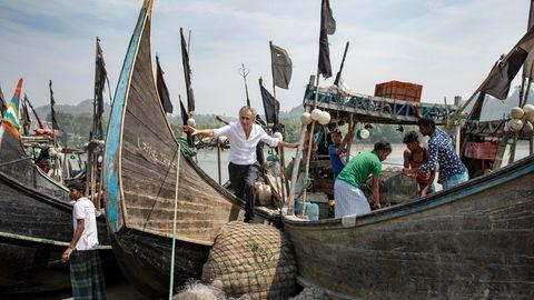 Bernard-Henri Lévy in Dhaka, der Hauptstadt von Bangladesch. Der Buriganga ist die Lebensader der Metropole – doch seine Gewässer sind stark verschmutzt