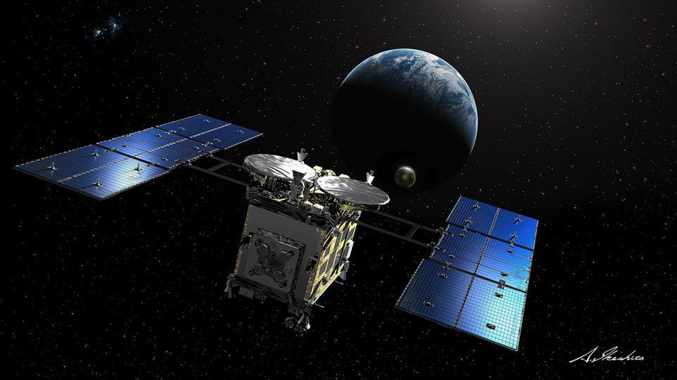Die japanische Raumsonde Hayabusa 2