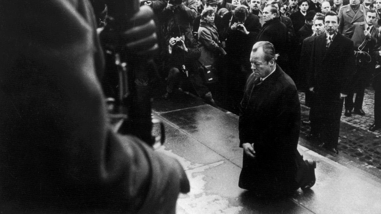 Kniefall von Willy Brandt in Warschau im Jahr 1970