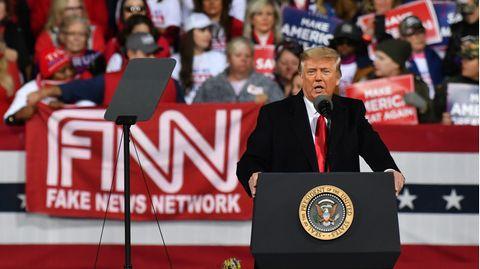 US-Präsident Donald Trump vor Anhängern in Georgia