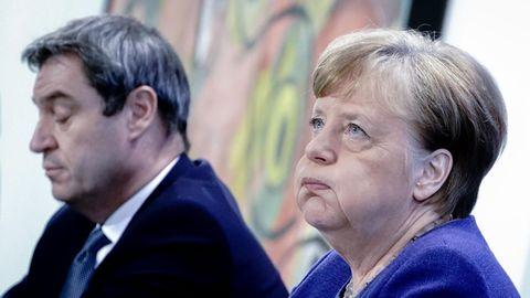 Markus Söder und Angela Merkel geschafft