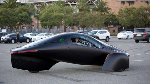 Die futuristische Form ist sehr windschlüpfrig.