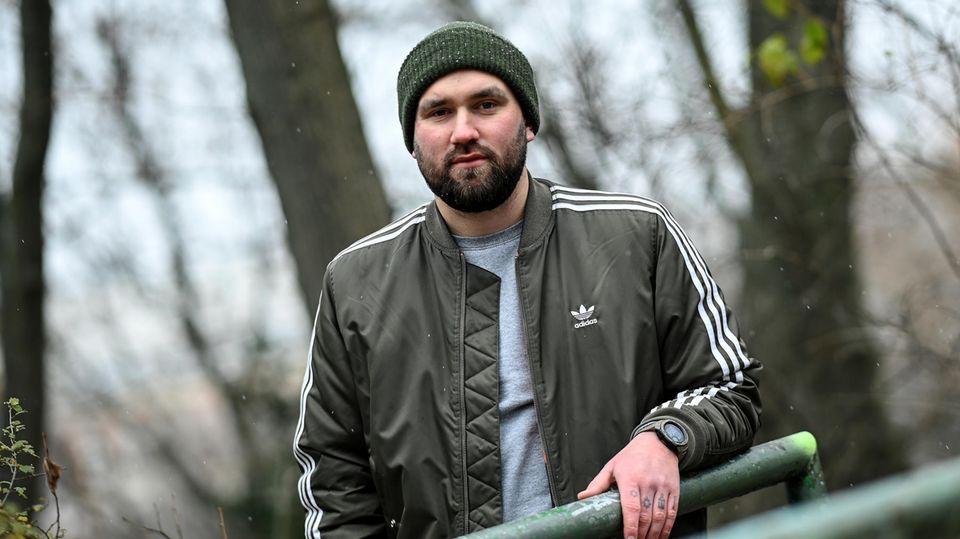 Martin Lautwein in Berlin. Der 29-Jährige war in Syrien in einem Foltergefängnis eingesperrt.