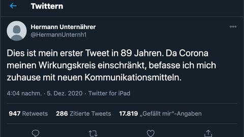 Twitter entdeckt: 89-jähriger Schweizer setzt ersten Tweet ab – nun folgen ihm fast 5000 Nutzer