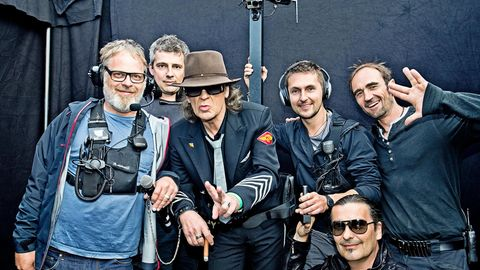 Udo Lindenberg mit seiner Backstage-Crew