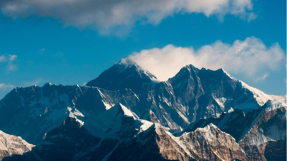 Der Mount Everest im Himalaya-Gebirge