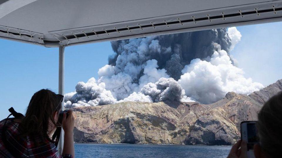 Am 9. Dezember 2019 war derVulkan Whakaari auf der White Island in Neuseeland ausgebrochen