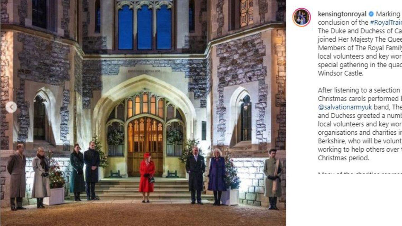 Vip-News: Die britischen Royals lauschen Weihnachtssängern - aber einer fehlt