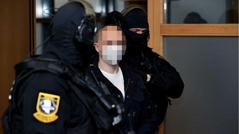 Halle-Attentäter Stephan B. am Mittwoch im Landgericht Magdeburg