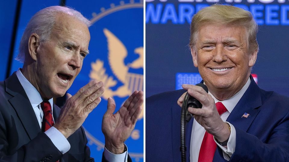 Joe Biden (l.) und Donald Trump