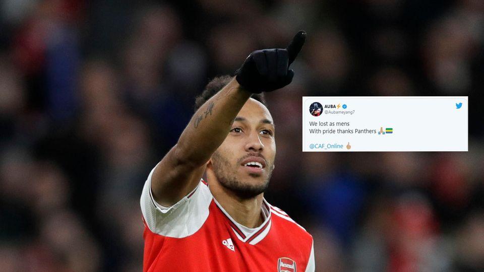Der Gabuner Pierre-Emerick Aubameyang im Trikot des FC Arsenal