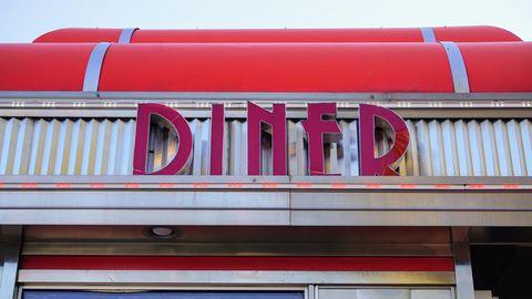Nahaufnahme eines Schnellrestaurants