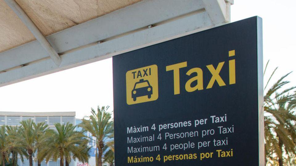Ein Taxistand auf Mallorca