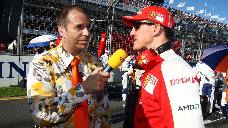 TV history: Kai Ebel interviewed Michael Schumacher