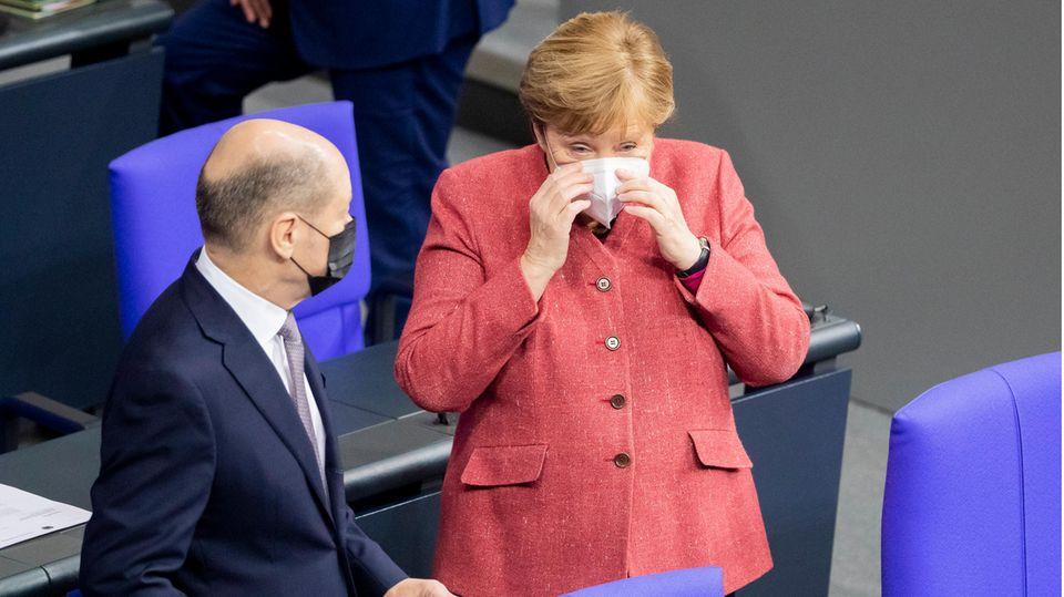 Scholz und Merkel