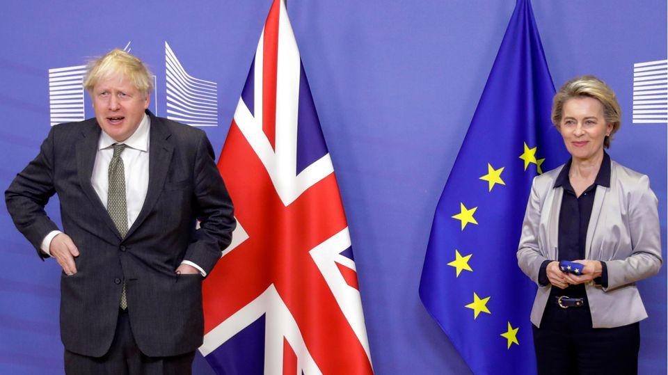 Ursula von der Leyen, Präsidentin der EU-Kommission, und Boris Johnson, Premierminister von Großbritannien