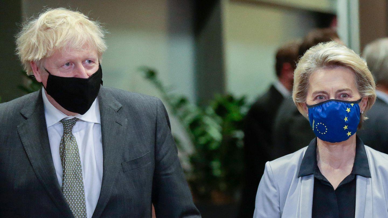 Boris Johnson, Premierminister von Großbritannien und Ursula von der Leyen, EU-Kommissionspräsidentin