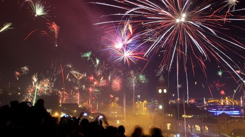 Silvester-Feuerwerk (Symbolbild)